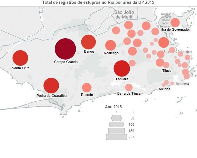 Estupros Mapa