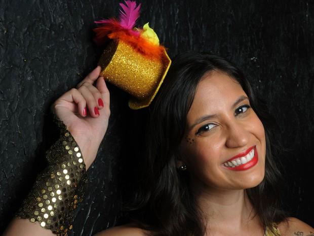 Mariana Guedes, cantora do Fogo e Paixão, foi eleita a Musa dos Blocos de Rua do Rio com 43% dos votos na eleição promovida pelo G1 (Foto: Alexandre Durão/G1)
