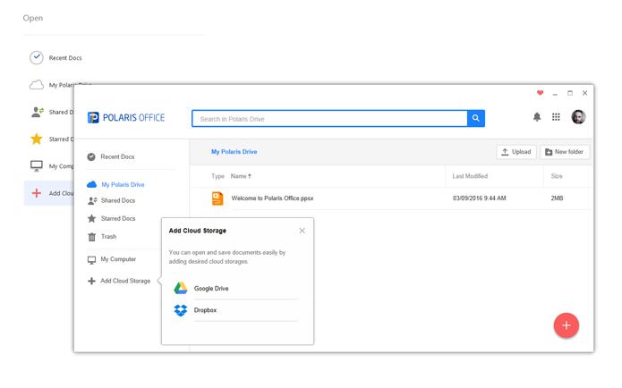 Polaris Office tem melhor suporte na nuvem, permitindo a edição de um mesmo documento em diversos dispositivos diferentes (Foto: Reprodução/Filipe Garrett)