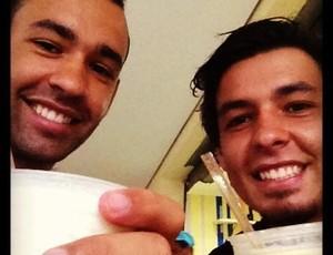 Juninho e Ricardo Goulart Los Angeles Galaxy (Foto: Reprodução/ Twitter)