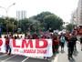 Movimento por moradia ocupa o Viaduto do Chá, no Centro