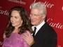 Richard Gere paparica Diane Lane e causa ciúme em sua mulher