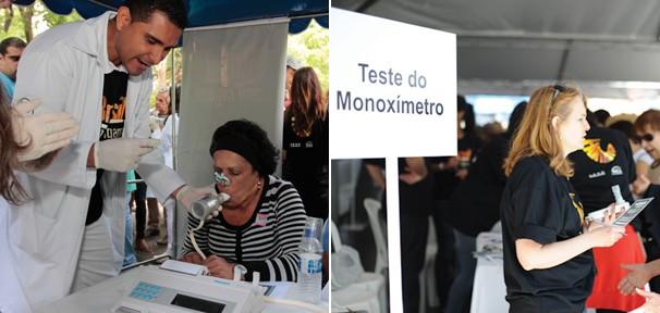 Exames médicos foram oferecidos à população durante a campanha (Foto: Divulgação Rede Globo)