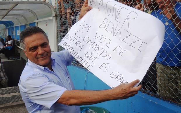 Vagner Benazzi - Apresentação ao Paysandu (Foto: Thiago Lopes / Globoesporte.com)