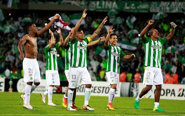 Atlético Nacional comemoração semifinal Libertadores
