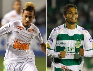 Neymar Fabinho santos x Guarani (Foto: Montagem sobre foto da Ag. Estado)