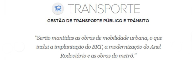 Meta de transporte do prefeito de Belo Horizonte, Marcio Lacerda (Foto: Arte/G1)