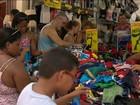 Comércio fica lotado no último fim de semana antes do Natal
