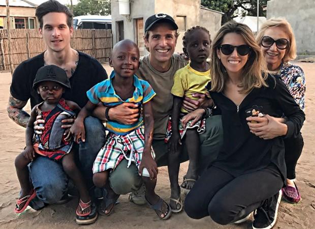 Reynaldo Gianecchini visita trabalho da ONG Fraternidade Sem Fronteiras, em Moçambique (Foto: Reprodução/Instagram)