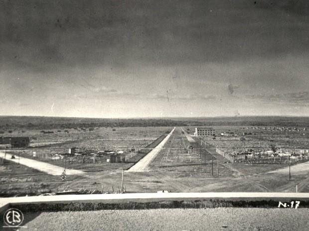 Vista do Plano de Urbanização de Goiânia, Goiás, em 1937. Projeto do arquiteto e urbanista Attilio Corrêa Lima. (Foto: Eduardo Bilemjian/ Divisão de Patrimônio Histórico da Secretaria de Cultura de Goiânia)
