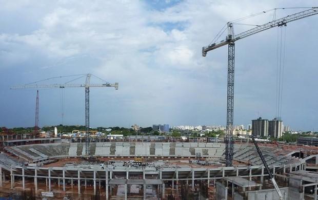 Obras Arena Amazônia copa do mundo 2014 (Foto: Arena)
