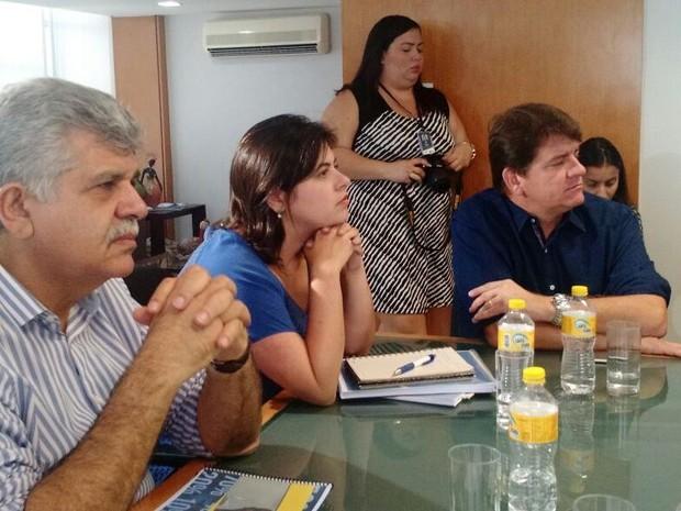 Priscila Krause participou de encontro no Centro do Recife (Foto: Penélope Araújo/G1)