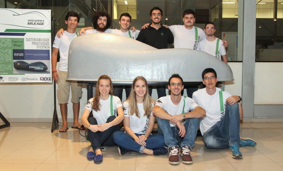 Alunos do curso de engenharia da USP São Carlos (Foto: Fabio Rodrigues/G1)