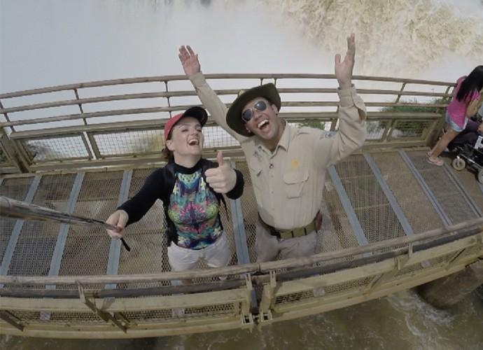 Vai rolar muitas selfies no Parque Nacional do Iguazu e nas Cataratas, do lado Argentino (Foto: Reprodução/ Plug)