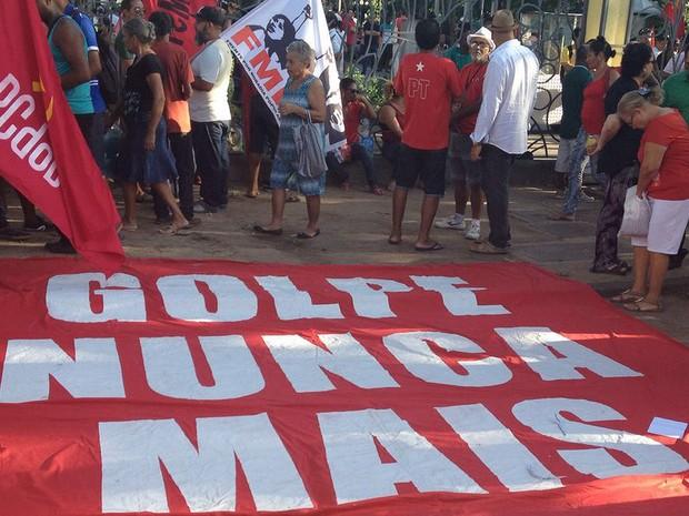 Protesto contra o governo Temer em Salvador, Bahia (Foto: Maiana Belo/ G1)