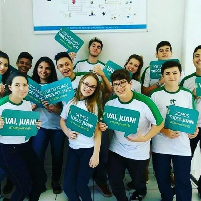 """Os alunos se uniram para dizer que """"são todos Juan"""" (Foto: Arquivo pessoal)"""