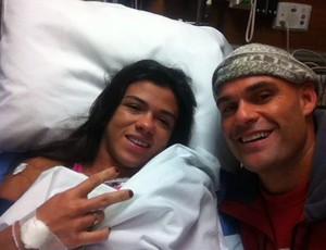 Claudia Gadalha no hospital (Foto: Arquivo Pessoal)