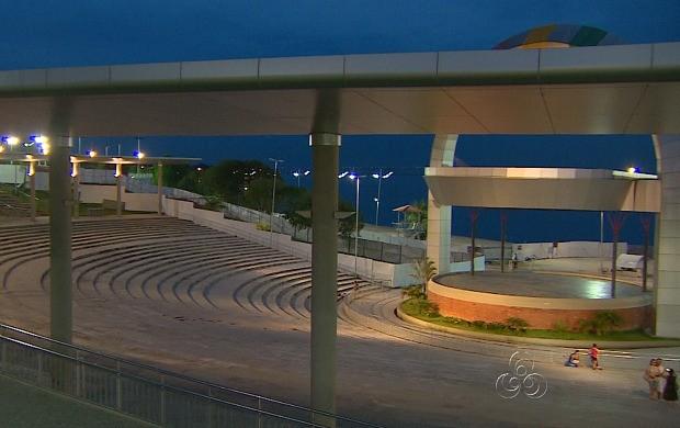 Anfiteatro da Ponta Negra sediará o Fifa Fun Fest (Foto: Amazonas TV)
