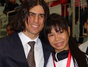Valéria Kumizaki ao lado de Renato Franco (Foto: Valéria Kumizaki / Arquivo pessoal)