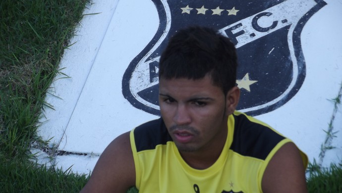 Romarinho, atacante do ABC (Foto: Tiago Menezes)