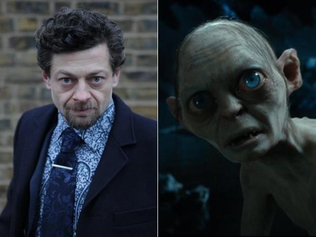 O ator Andy Serkis e o personagem Gollum, da trilogia 'Senhor dos anéis' e do longa 'O hobbit' (Foto: Divulgação)