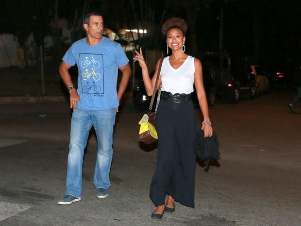 MArcos PAsquim e Sheron Menezzes em festa na Zona Oeste do Rio (Foto: Dilson Silva e Delson Silva/ Ag. News)