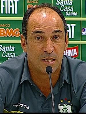 Vinícius Eutrópio, novo técnico do América-MG (Foto: Reprodução Sportv)