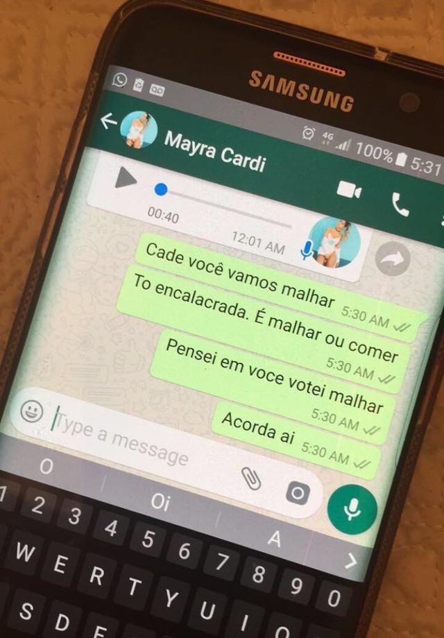 Cantora também tentou entrar em contato com a musa fitness Mayra Cardi (Foto: Instagram/Reprodução)