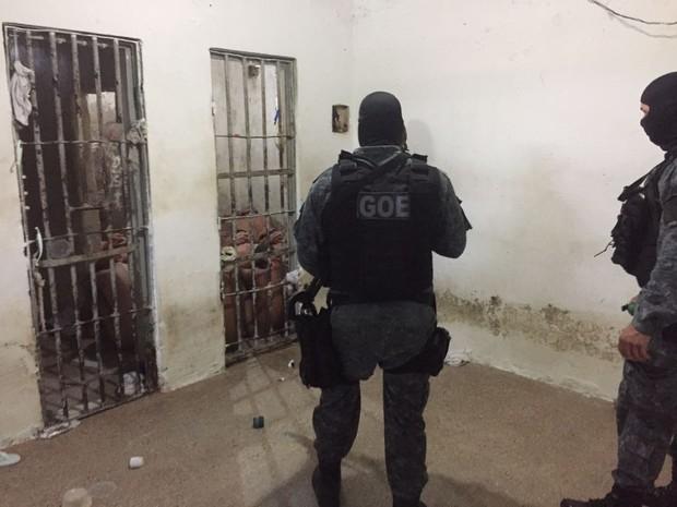 Grupo de Operações Especiais da Sejuc comanda operações nas unidades (Foto: Divulgação / GOE)
