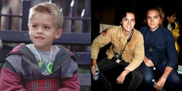 Cole e Dylan Sprouse em O Paizão e hoje (Foto: Divulgação/ Columbia Pictures | Getty Images)