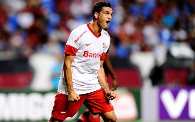 Gilberto marcou no jogo contra o Flamengo (Foto: Alexandre Lopes / Inter, DVG)