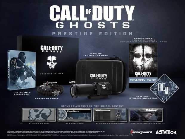 Edição de colecionador de 'Ghosts' virá com câmera de ação (Foto: Divulgação/Activision)