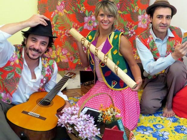 Cia Duo Teatral no projeto 'Avós e Netos' do Sesc de Piracicaba  (Foto: Rogério Romera)