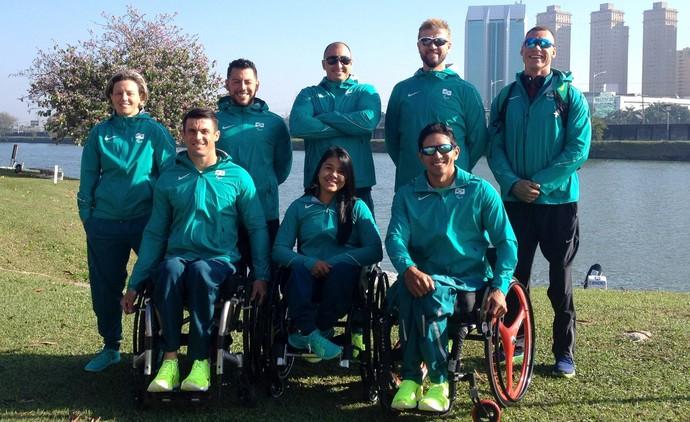 Equipe de canoagem brasileira da Paralimpíada  (Foto: Canoagem Brasileira)
