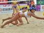 Em jogo parelho, Juliana e Carol Horta perdem para russas e são eliminadas
