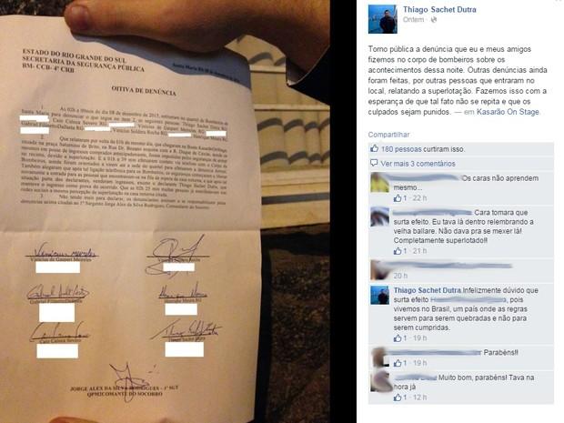 denúncia superlotação santa maria (Foto: Reprodução/Facebook)
