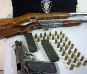 Armas apreendidas durante a operação (Foto: Cedida/Degepol/RN)