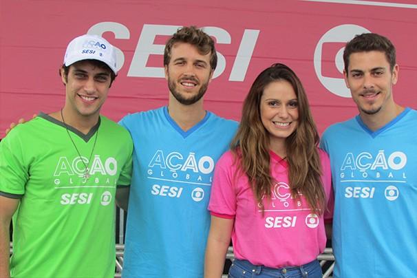 Sacha Bali, Ronny Kriwat, Miguel Thiré e Aline Fanju (Foto: Divulgação/ Mariana Cabral)