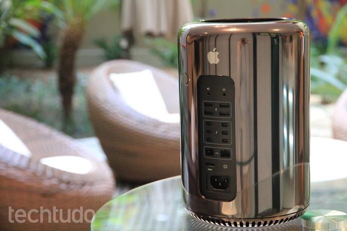 O design é um dos pontos fortes do Mac Pro 2013 (Foto: Juliana Pixinine/TechTudo)