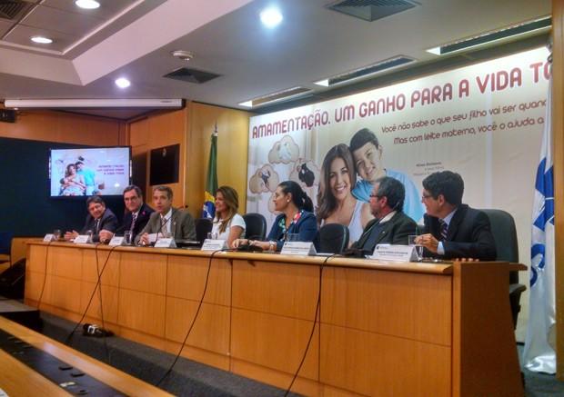 Coletiva de imprensa lança campanha do Ministério da Saúde por amamentação (Foto: Dayane Oliveira/G1)