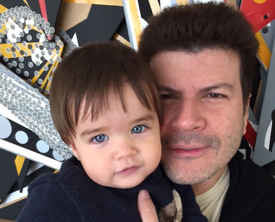 Paulo Ricardo ao lado do filho mais novo, Luís Eduardo (Foto: Arquivo Pessoal)