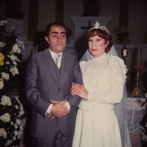 Com Ary Fontoura em Amor com amor se paga, de 1984 (Foto: Arquivo)