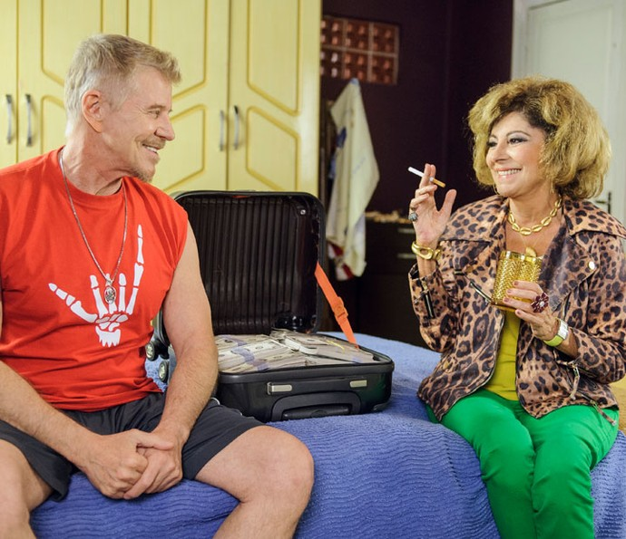 Miguel e Marília na pele de Ruço e Darlene, casal protagonista de 'Pé na Cova' (Foto: Globo/ Cauiá Franco)