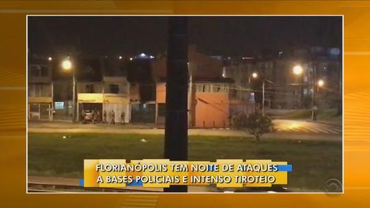Incêndio a veículos e tiros contra delegacia e bases da PM são registrados em Florianópolis