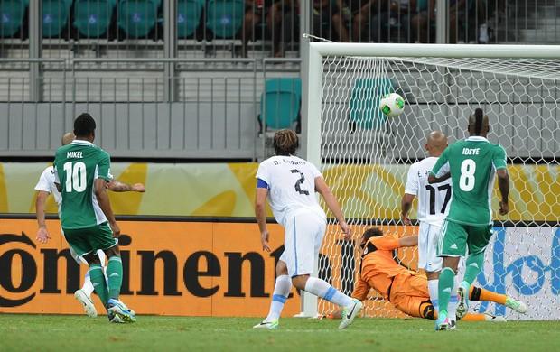 Mikel gol, Nigéria x Uruguai (Foto: EFE)