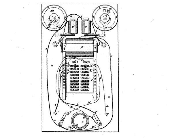 Gravador de votos eletrônico de Thomas Edison (Foto: Google Patents)