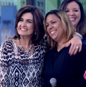 Fátima conhece xará e se diverte com piada; veja! (TV Globo)