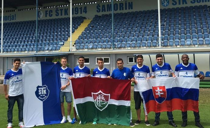flu samorin jogadores na eslovaquia (Foto: Divulgação)