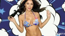 Striptease de Arianny Celeste en trivia para los Simpsons