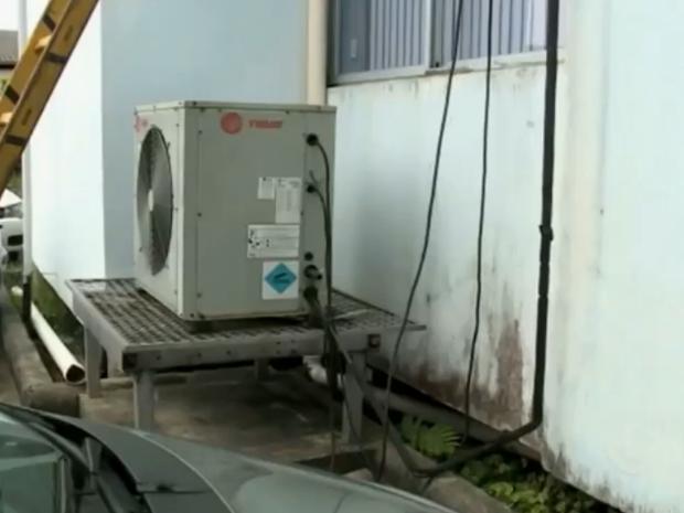 ar-condicionado (Foto: Reprodução/RBS TV)